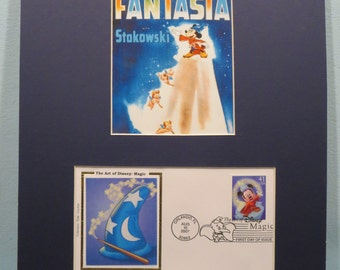 "Walt Disney - Mickey Mouse in ""Fantasia"" & First Day Cover of th Fantastia stamp"
