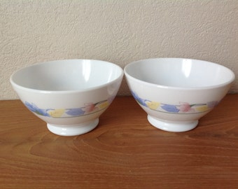 Set of 2 bowls Vintage arcopal FRANCE