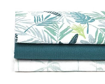 In The Tropics - Quarter Fabric Pack 3 Fabric 1set - Sets for 3 each 45 X 55 cm