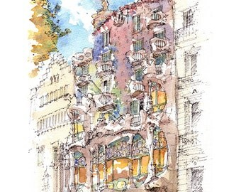 Antoni gaudi etsy for Barcelona jardin gaudi