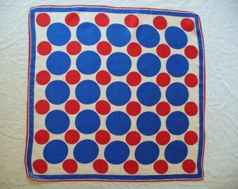"Vintage Vera Neumann Scarf ~ Classic Red,White,Blue ~ 22""x22"" ~ Item # 205"