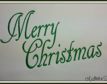 Merry Christmas Set 4X4 and 5X7 Sizes Machine Embroidery File - INSTANT DOWNLOAD