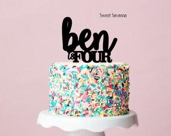 Custom Birthday Cake Topper - Name Cake Topper , First Birthday