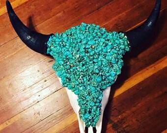 Beautiful Turquoise Buffalo Skull
