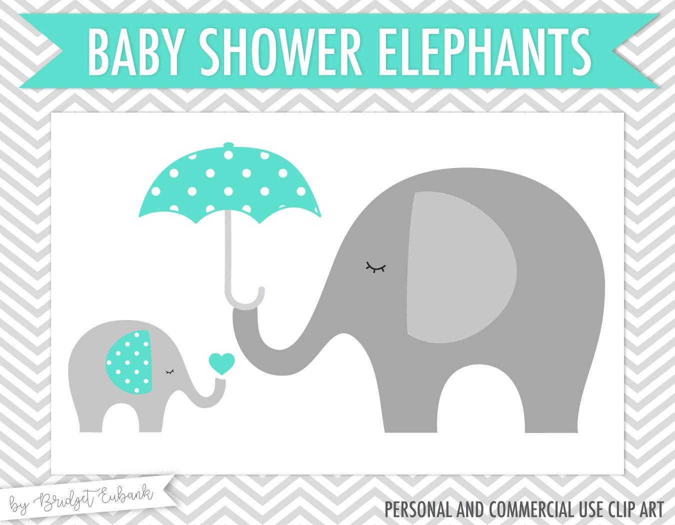 Baby Elephant Clip Art Baby Shower Baby shower clipart El...