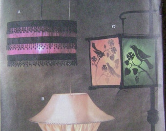 OUT of PRINT Vogue Pattern 7920 Lamps