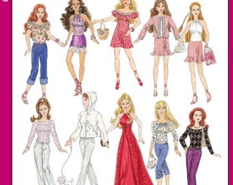 Simplicity Pattern 4702 - 11 1/2 inch Fashion Doll Clothes