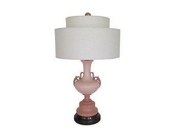 1940s Lenox Porcelain Urn Lamp w/Shade