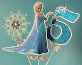 Frozen Centrepiece, Frozen Inspired Decoration, Frozen Cake Topper. Double Sided. Ship in 1-3 days.