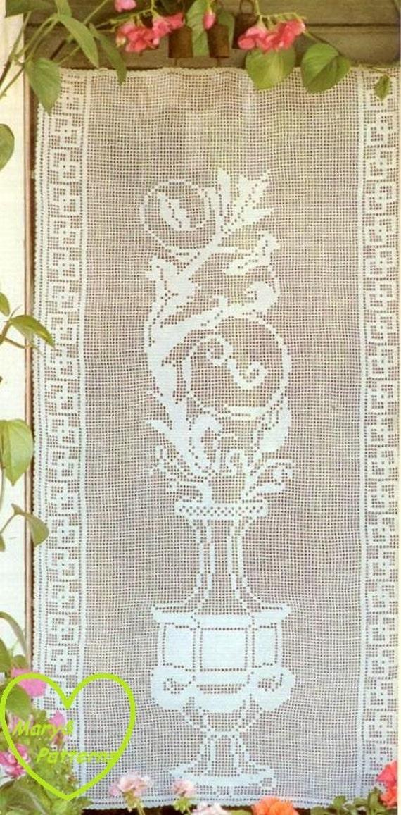 pdf crochet pattern curtains tend crochet tend home decor vintage crochet from marypatterns. Black Bedroom Furniture Sets. Home Design Ideas