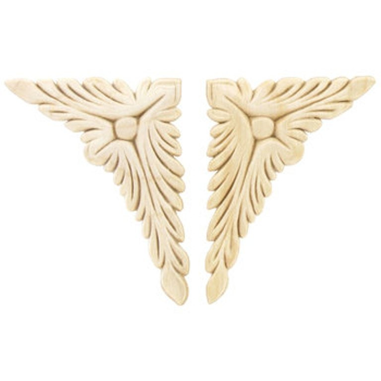 Acanthus corner wood appliques decorative wood wood crafts 2 for Decorative wood onlays