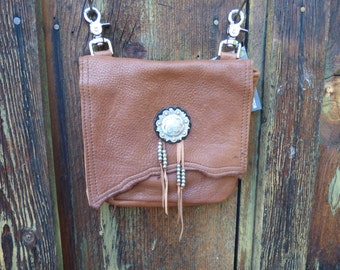 Leather and Cowhide Purse