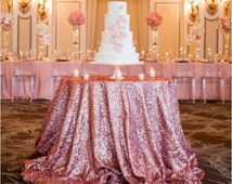 Pink sequin tablecloth, wedding, cake table, bridal shower, wholesale, head table, spring wedding