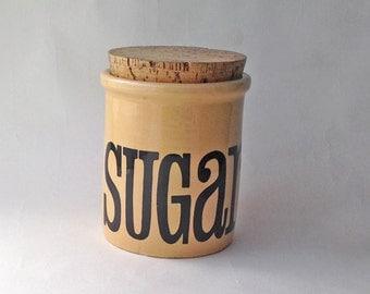 T & G Green Sugar Jar Mid Century Kitchenalia. Retro Sugar Canister/ storage jar