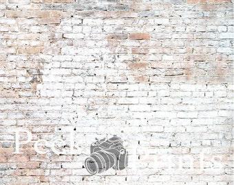 5ft.x5ft. Luster Brick Wall Photography Backdrop - Brick Vinyl Backdrops