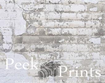 4ft.x4ft. Lead Peeling Brick Wall Photography Backdrop - Grunge Brick Vinyl Backdrops