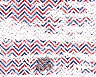 8ftx8ft  Patriotic Grungy Chevron Vinyl Photography Backdrop- 4th of July, Memorial Day, Red, White, & Blue Backdrops