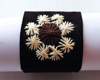 Frozen flower - suede bracelet