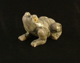 Carved Soapstone Frog, Medium