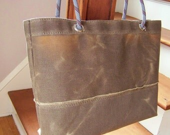Field Tan Waxed Canvas Tote / Ready to Ship