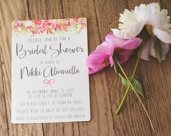 FLORAL|Bridal Shower Invitations #10