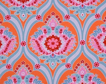 FAT QUARTER Jennifer Paganelli Crazy Love Priscilla in Orange OOP Free Spirit Fabric