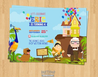 Personalized Up invitation (digital file)
