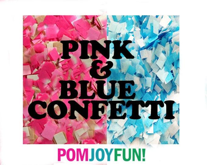 Pink and blue gender reveal confetti , Gender reveal ideas , Custom Confetti , Gender Reveal Pinata Confetti