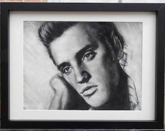 Tender - Elvis Presley - Original pastel portrait artwork - direct from artist studio