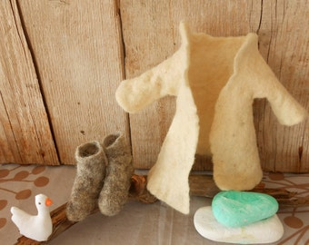 Clothes for the fox doll, Winter clothing for the fox doll, Organic clothing,