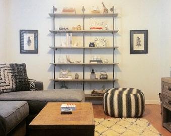 Custom Pipe and Wood Shelf