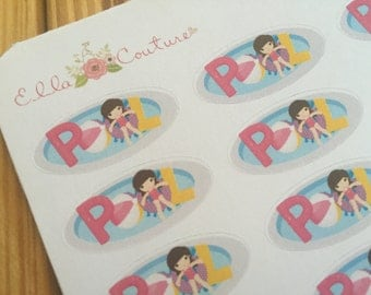 Pool Days Planner Stickers by EllaCoutureByJessica