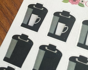 Single cup Coffee Maker Planner Stickers by Ella Couture by Jessica