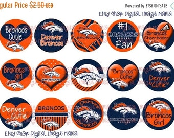 HUGE SALE INSTANT Download Denver Broncos Inspired 4x6 Digital Printable 1 Inch Circle Bottle Cap Images