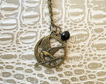 The Hunger Games - Mockingjay pendant necklace
