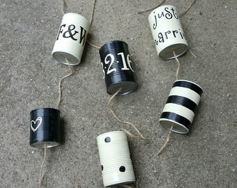 Mariage voiture canettes - Just Married boîtes de conserve (toute couleur) - mariage Traditions - recyclés mariage - issu de boîtes de conserve