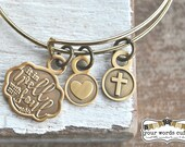 It Is Well with my Soul - charm bangle bracelet
