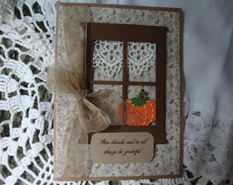 Handmade Thanksgiving Card, Happy Thanksgiving