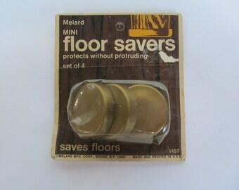Floor Saver  - Protective   plastic cups  set of 4  -  1''  round