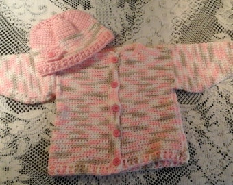 Girls Pink Camo Sweater Set