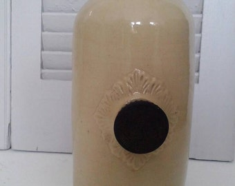 Vintage, Stoneware Foot Warmer, Bed Warmer, Hot Water Bottle. Stamped.