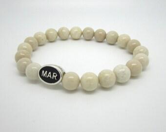 Marshfield, Marshfield MA, Marshfield Gifts, Marshfield Jewelry, Marshfield Bracelet, Marshfield Bead, Humarock, Brant Rock, White Bracelet