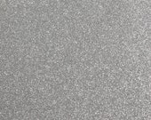 FINE glitter fabric sheet. Silver A4 sheet. JR09152