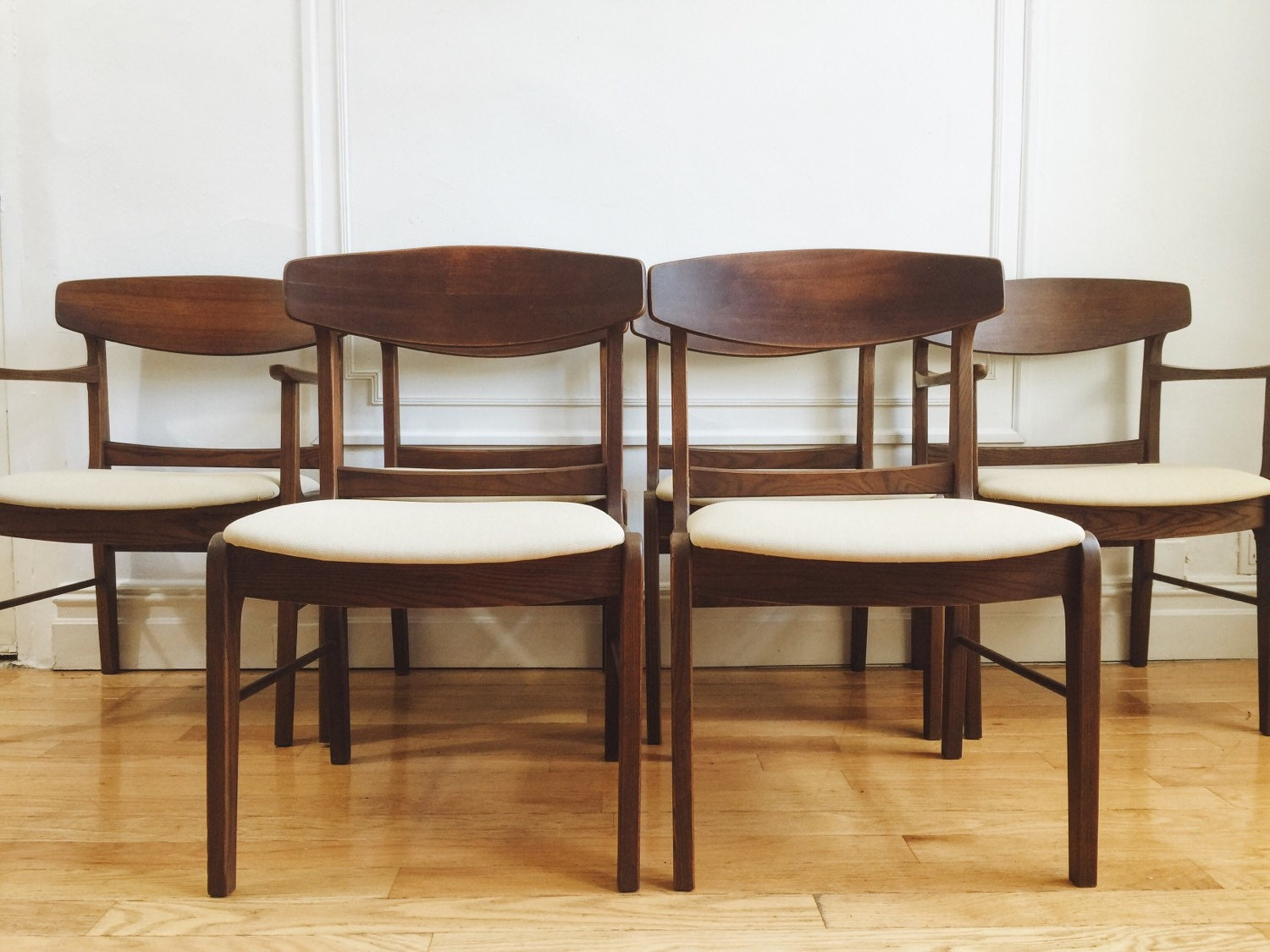 SET OF 6 Stanley MCM Dining Chairs