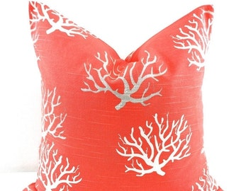 On Sale Pillow. Salmon Coral pillow cover.  Coral Pillow case. Cm. Sham cover. Cushion cover. Select your size.