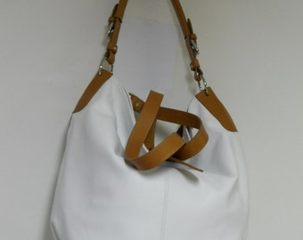"White mod leather bag ""bag"""