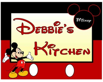 Personalized Mickey Mouse Kitchen MAGNET ~ FREE SHIPPING