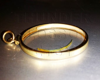 14k Gold bezel fits 20 dollar gold coin