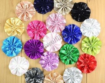 Sequin Flowers for DIY Headbands Wholesale Supplies Hair Accessories