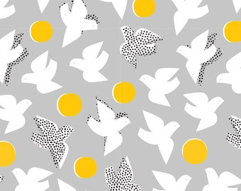 Flock Grey- Glint by Cloud9 Fabrics Cotton Fabric Fat Quarter